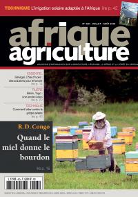 Afrique Agriculture 425 de juillet/août 2018