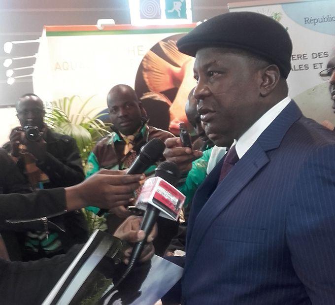 Kobenan Kouassi Adjoumani, ministre des Ressources animales et halieutiques de la Côte d'Ivoire. Photo: S. Bayebane