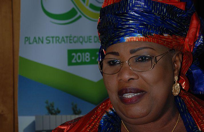 Aminata Mbengue Ndiaye, ministre de l'Elevage et des Productions animales du Sénégal lors de l'ouverture du cinquantenaire de l'EISMV de Dakar, le 26 novembre. © A. Hervé