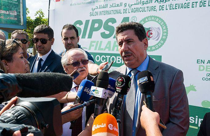 Lors de l'inauguration du Sipsa-Filaha 2019 à Alger. Photo : Sipsa-Filaha.