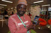 Le Space attire chaque année de nombreux visiteurs africains. Ici, le Dr Ibrahima Thiam, chef de la délégation du ministère de l'Elevage du Sénégal, en 2019. Photo : Antoine Hervé